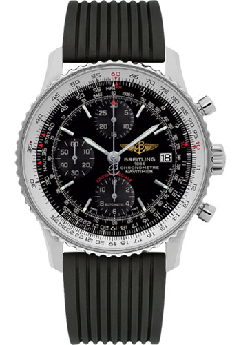 Breitling Watches - Navitimer Heritage Navitimer Rubber Strap - Deployant - Style No: A1332412/BF27-navitimer-rubber-black-deployant