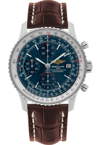 Breitling Watches - Navitimer Heritage Croco Strap - Deployant - Style No: A1332412/C942-croco-brown-deployant