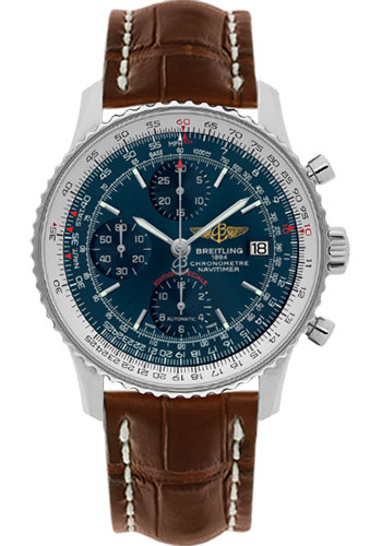 Breitling Watches - Navitimer Heritage Croco Strap - Deployant - Style No: A1332412/C942-croco-gold-deployant