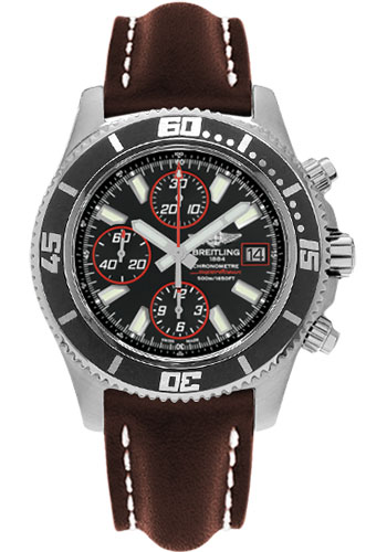 Breitling Watches - Superocean Chronograph II Abyss Red Satin - Style No: A1334102/BA81-leather-brown-folding