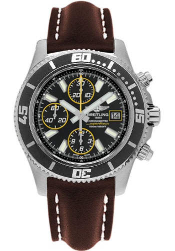 Breitling Watches - Superocean Chronograph II Abyss Yellow Satin - Style No: A1334102/BA82-leather-brown-folding