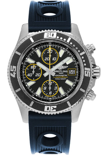 Breitling Watches - Superocean Chronograph II Abyss Yellow Satin - Style No: A1334102/BA82-ocean-racer-blue-folding