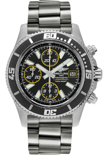 Breitling Watches - Superocean Chronograph II Abyss Yellow Satin - Style No: A1334102/BA82-professional-steel