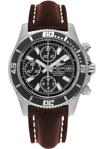 Breitling Watches - Superocean Chronograph II Abyss White Satin - Style No: A1334102/BA84-leather-brown-folding