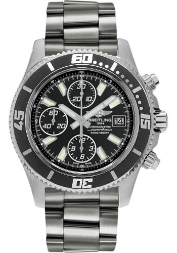 Breitling Watches - Superocean Chronograph II Abyss White Satin - Style No: A1334102/BA84-professional-steel