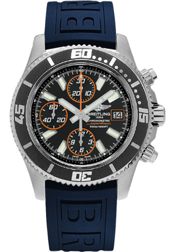 Breitling Watches - Superocean Chronograph II Abyss Orange Satin - Style No: A1334102/BA85-diver-pro-iii-blue-folding