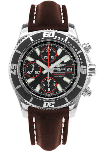 Breitling Watches - Superocean Chronograph II Abyss Red Polished - Style No: A13341A8/BA81-leather-brown-folding