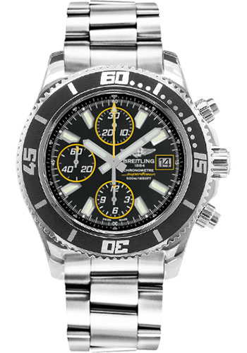 Breitling Watches - Superocean Chronograph II Abyss Yellow Polished - Style No: A13341A8/BA82-professional-polished-steel