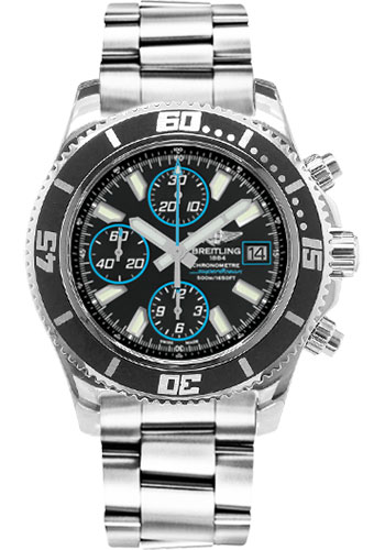 Breitling Watches - Superocean Chronograph II Abyss Blue Polished - Style No: A13341A8/BA83-professional-polished-steel