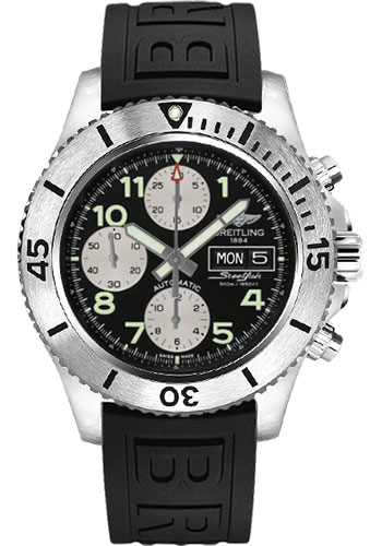 Breitling Watches - Superocean Chronograph Steelfish Diver Pro III Strap - Deployant - Style No: A13341C3/BD19-diver-pro-iii-black-deployant