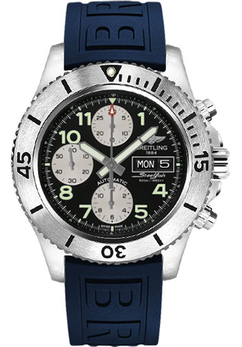 Breitling Watches - Superocean Chronograph Steelfish Diver Pro III Strap - Deployant - Style No: A13341C3/BD19-diver-pro-iii-blue-deployant