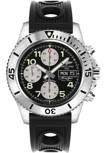 Breitling Watches - Superocean Chronograph Steelfish Ocean Racer Strap - Deployant - Style No: A13341C3/BD19-ocean-racer-black-deployant