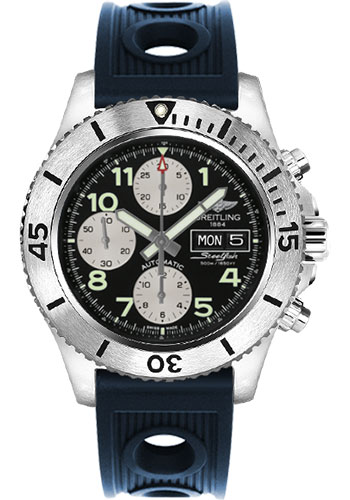 Breitling Watches - Superocean Chronograph Steelfish Ocean Racer Strap - Deployant - Style No: A13341C3/BD19-ocean-racer-blue-deployant