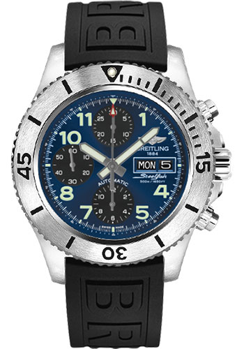 Breitling Watches - Superocean Chronograph Steelfish Diver Pro III Strap - Deployant - Style No: A13341C3/C893-diver-pro-iii-black-deployant