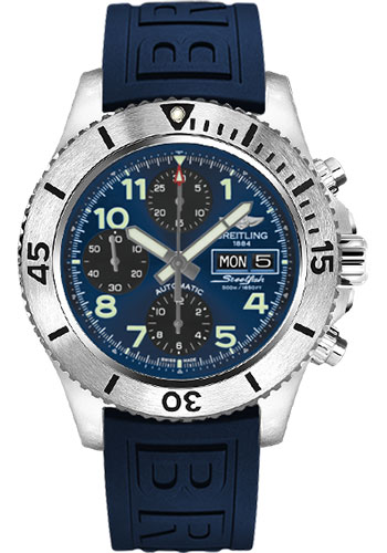 Breitling Watches - Superocean Chronograph Steelfish Diver Pro III Strap - Deployant - Style No: A13341C3/C893-diver-pro-iii-blue-deployant