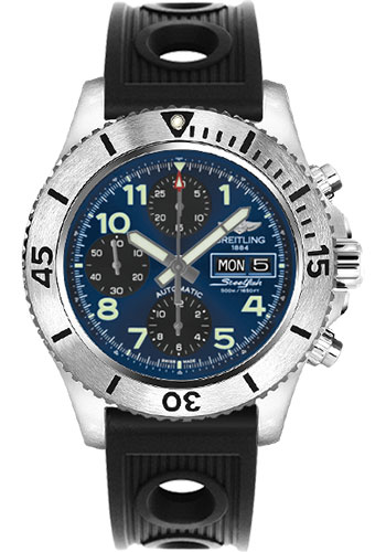 Breitling Watches - Superocean Chronograph Steelfish Ocean Racer Strap - Deployant - Style No: A13341C3/C893-ocean-racer-black-deployant