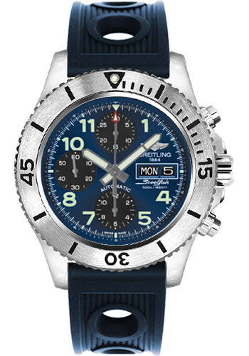 Breitling Watches - Superocean Chronograph Steelfish Ocean Racer Strap - Deployant - Style No: A13341C3/C893-ocean-racer-blue-deployant