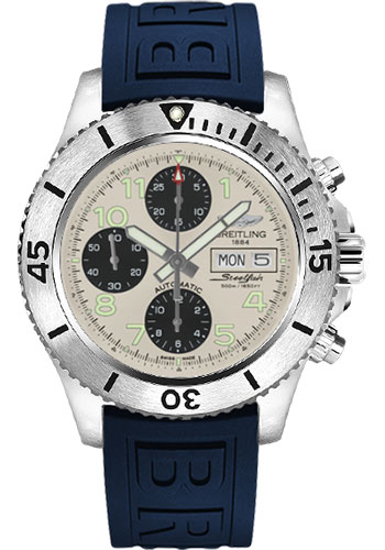 Breitling Watches - Superocean Chronograph Steelfish Diver Pro III Strap - Deployant - Style No: A13341C3/G782-diver-pro-iii-blue-deployant