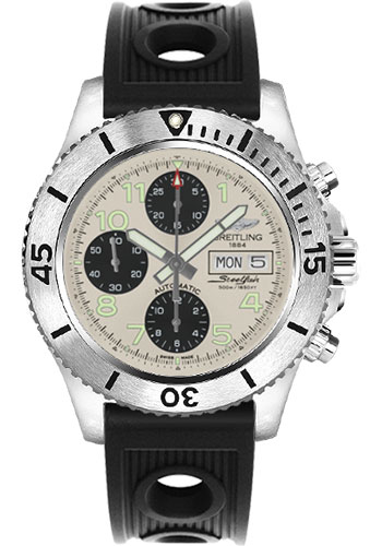 Breitling Watches - Superocean Chronograph Steelfish Ocean Racer Strap - Deployant - Style No: A13341C3/G782-ocean-racer-black-deployant