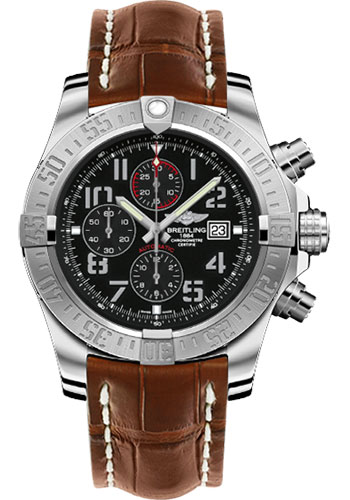 Breitling Watches - Super Avenger II Croco Strap - Deployant Buckle - Style No: A1337111/BC28-croco-gold-deployant