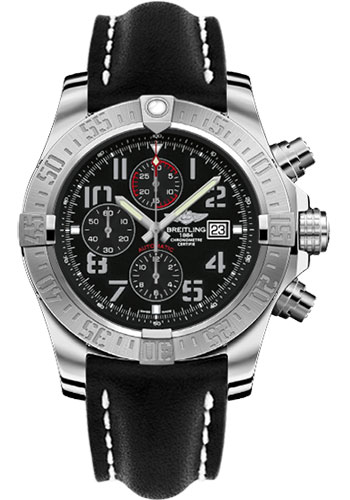 Breitling Watches - Super Avenger II Leather Strap - Tang Buckle - Style No: A1337111/BC28/441X/A20BA.1