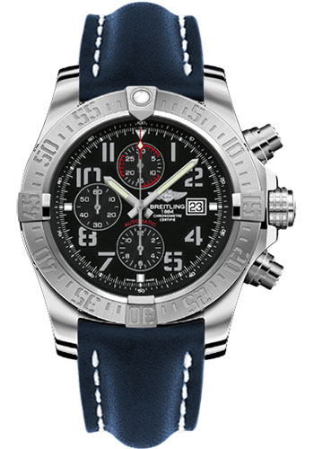 Breitling Watches - Super Avenger II Leather Strap - Tang Buckle - Style No: A1337111/BC28/101X/A20BA.1