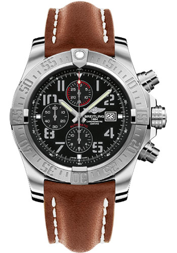 Breitling Watches - Super Avenger II Leather Strap - Tang Buckle - Style No: A1337111/BC28/439X/A20BA.1