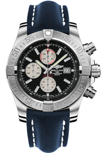 Breitling Watches - Super Avenger II Leather Strap - Tang Buckle - Style No: A1337111/BC29/101X/A20BA.1