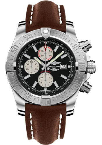 Breitling Watches - Super Avenger II Leather Strap - Tang Buckle - Style No: A1337111/BC29/443X/A20BA.1