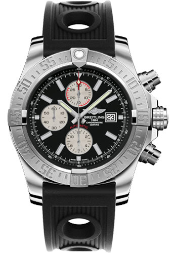 Breitling Watches - Super Avenger II Ocean Racer Strap - Style No: A1337111/BC29-ocean-racer-black-deployant