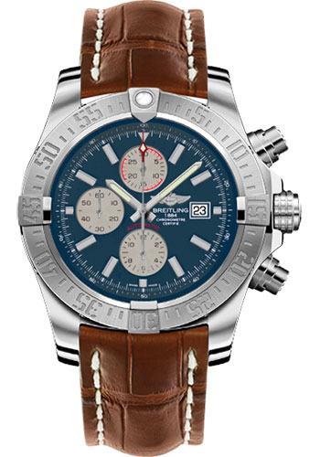 Breitling Watches - Super Avenger II Croco Strap - Deployant Buckle - Style No: A1337111/C871-croco-gold-deployant