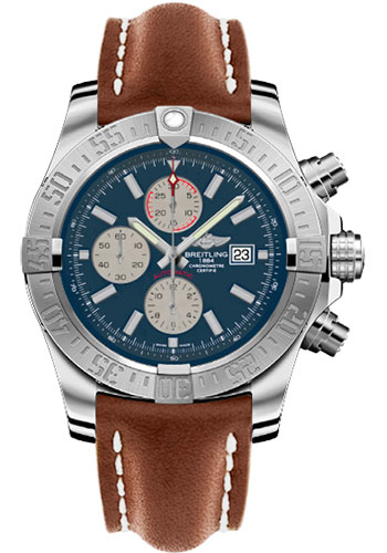 Breitling Watches - Super Avenger II Leather Strap - Tang Buckle - Style No: A1337111/C871/439X/A20BA.1