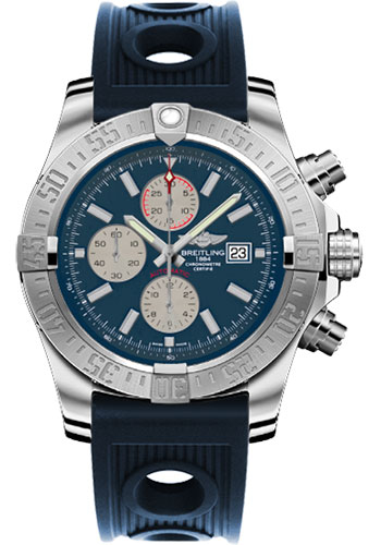 Breitling Watches - Super Avenger II Ocean Racer Strap - Style No: A1337111/C871-ocean-racer-blue-deployant