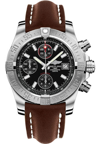 Breitling Watches - Avenger II Leather Strap - Deployant Buckle - Style No: A1338111/BC32-leather-brown-deployant