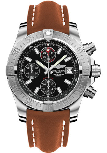 Breitling Watches - Avenger II Leather Strap - Deployant Buckle - Style No: A1338111/BC32/434X/A20D.1