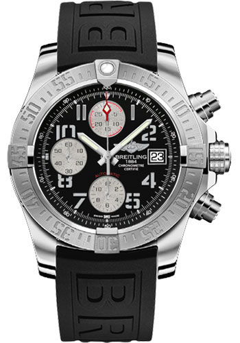 Breitling Watches - Avenger II Diver Pro III Strap - Deployant Buckle - Style No: A1338111/BC33-diver-pro-iii-black-deployant