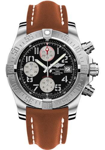 Breitling Watches - Avenger II Leather Strap - Deployant Buckle - Style No: A1338111/BC33-leather-gold-deployant