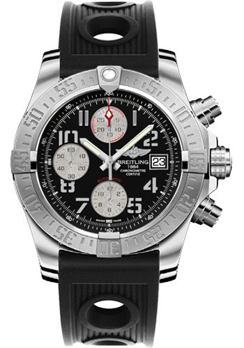 Breitling Watches - Avenger II Ocean Racer Strap - Style No: A1338111/BC33-ocean-racer-black-deployant