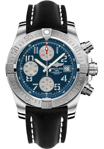 Breitling Watches - Avenger II Leather Strap - Deployant Buckle - Style No: A1338111/C870-leather-black-deployant
