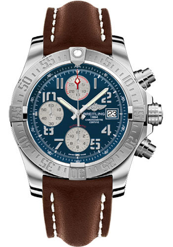 Breitling Watches - Avenger II Leather Strap - Deployant Buckle - Style No: A1338111/C870-leather-brown-deployant