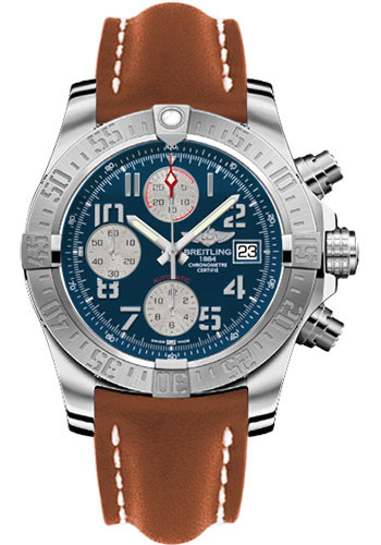 Breitling Watches - Avenger II Leather Strap - Deployant Buckle - Style No: A1338111/C870-leather-gold-deployant