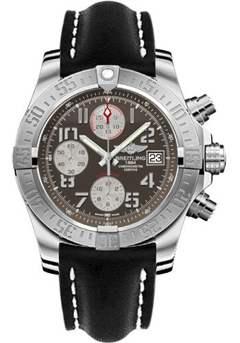 Breitling Watches - Avenger II Leather Strap - Deployant Buckle - Style No: A1338111/F564-leather-black-deployant