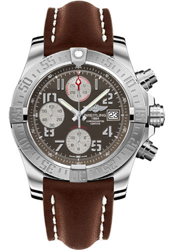 Breitling Watches - Avenger II Leather Strap - Deployant Buckle - Style No: A1338111/F564-leather-brown-deployant