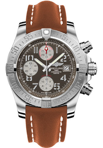 Breitling A1338111 F564 Leather Gold Tang Avenger Ii Watch
