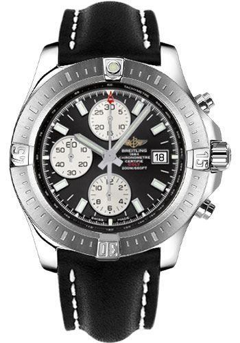 Breitling Watches - Colt Chronograph Automatic Leather Strap - Tang - Style No: A1338811/BD83-leather-black-tang