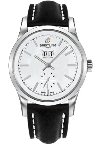 Breitling Watches - Transocean 38 Leather Strap - Deployant - Style No: A1631012/A764-leather-black-deployant