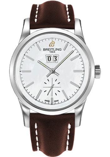 Breitling Watches - Transocean 38 Leather Strap - Tang - Style No: A1631012/A764-leather-brown-tang