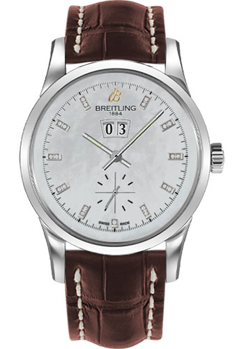 Breitling Watches - Transocean 38 Croco Strap - Tang - Style No: A1631012/A765-croco-brown-tang