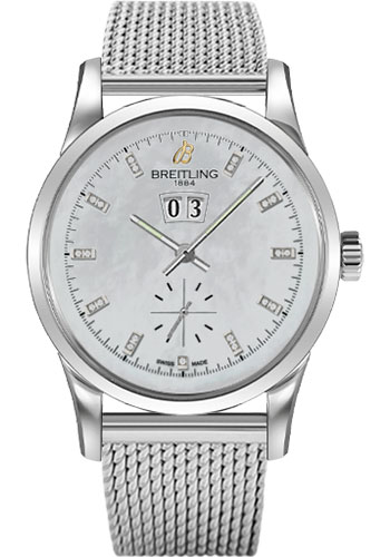 Breitling Watches - Transocean 38 Ocean Classic Bracelet - Style No: A1631012/A765-ocean-classic-steel