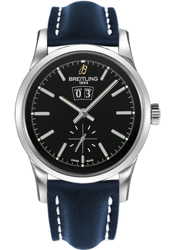 Breitling Watches - Transocean 38 Leather Strap - Tang - Style No: A1631012/BD15-leather-blue-tang